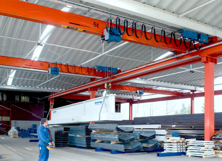 Brückenkrananlage mit Tandemfunktion - A. P. Pfaff GmbH & Co. KG – Augsburg