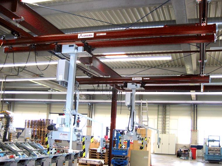 Zweiträger-Hängekran-System mit Portalen - A. P. Pfaff GmbH & Co. KG – Augsburg